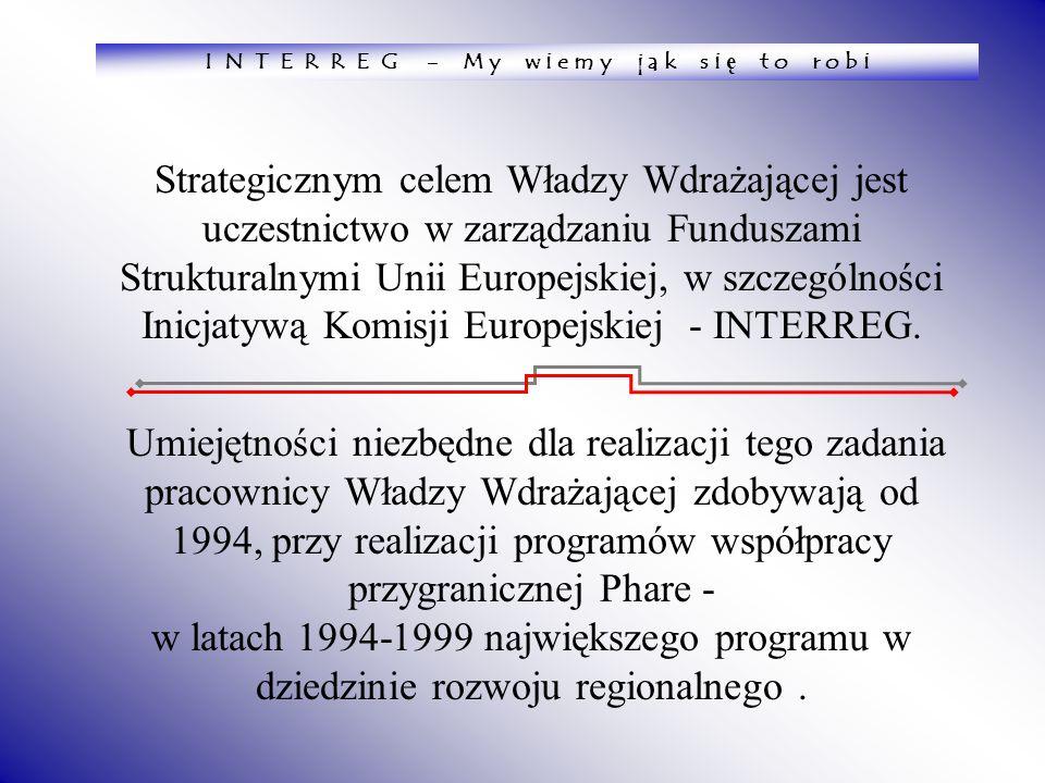Strategicznym celem Władzy Wdrażającej jest uczestnictwo w zarządzaniu Funduszami Strukturalnymi Unii Europejskiej, w szczególności Inicjatywą Komisji