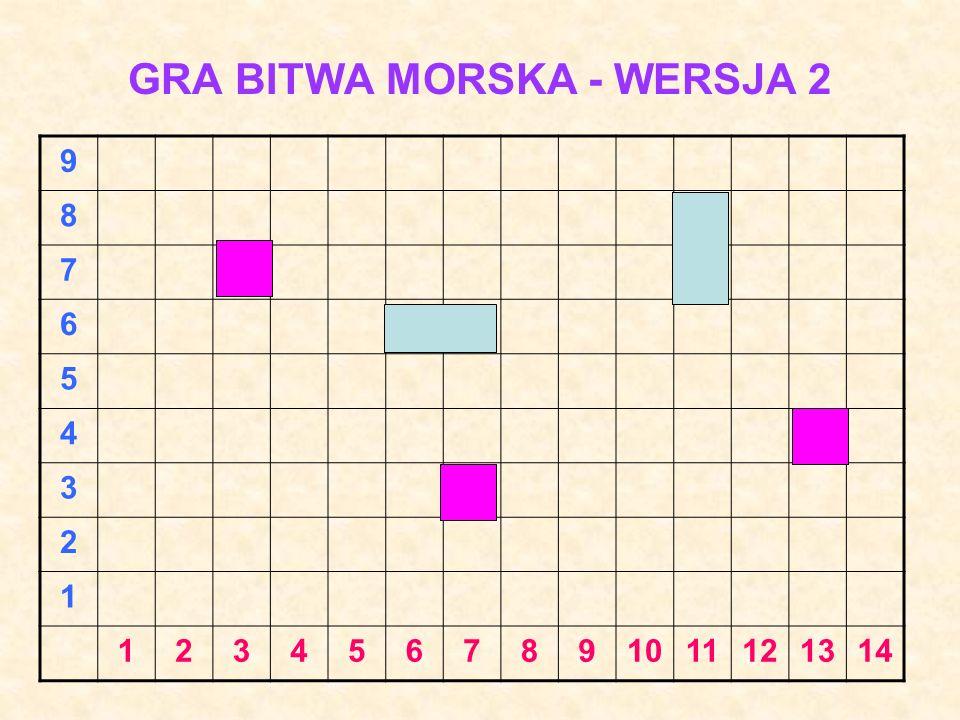 GRA BITWA MORSKA – WERSJA 1 I H G F E D C B A 1234567891011121314
