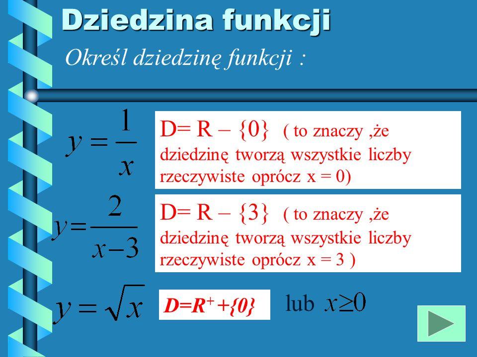 Własności funkcji 1.
