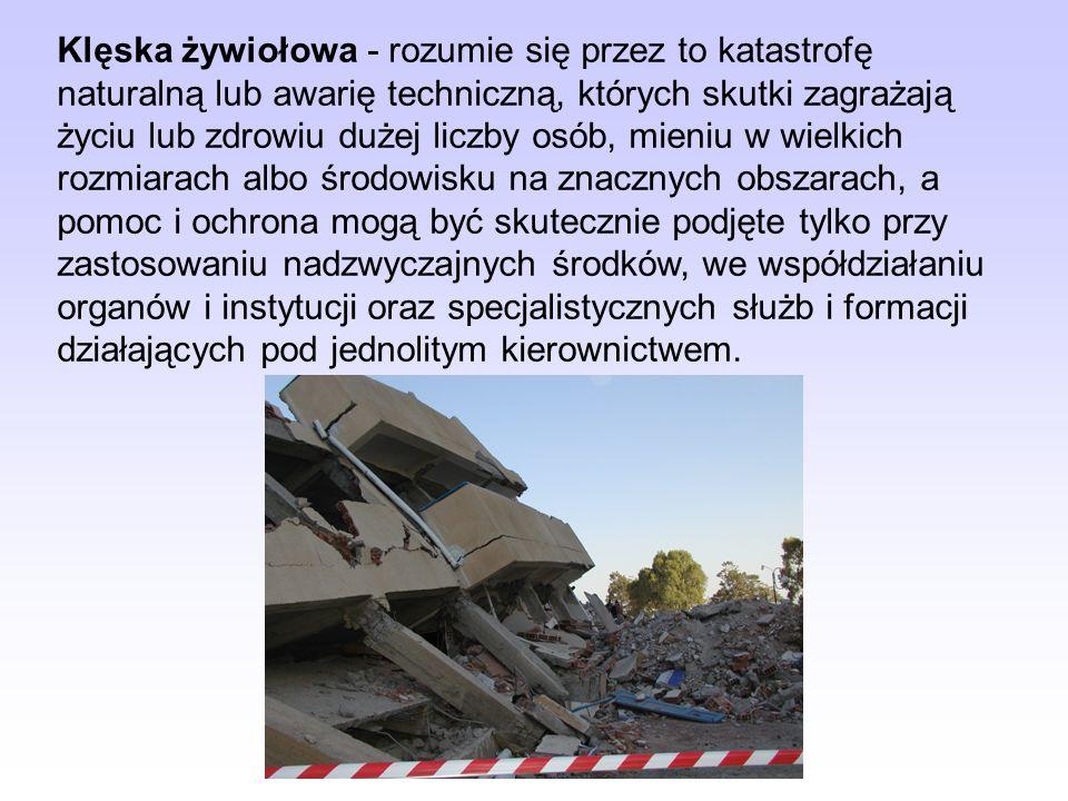 Ustawa określa tryb wprowadzania i zniesienia stanu klęski żywiołowej, a także zasady działania organów władzy publicznej oraz zakres ograniczeń wolno