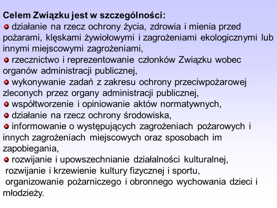 Związek Ochotniczych Straży Pożarnych Rzeczypospolitej Polskiej jest ogólnopolskim, samorządnym, trwałym stowarzyszeniem, które zrzesza Ochotnicze Str