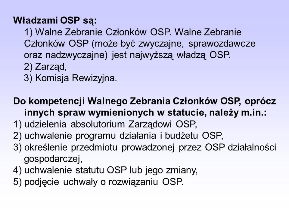 4) prowadzenie podstawowego szkolenia ratowniczego członków zwyczajnych OSP i współdziałanie z PSP w organizowaniu szkolenia funkcyjnych OSP, 5) organ