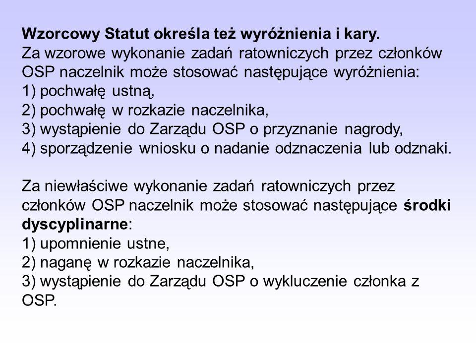 Do zadań Zarządu należy m.in.: 1) reprezentowanie interesów OSP, 2) realizowanie uchwał i wytycznych Walnego Zebrania, 3) udzielanie wyjaśnień organow