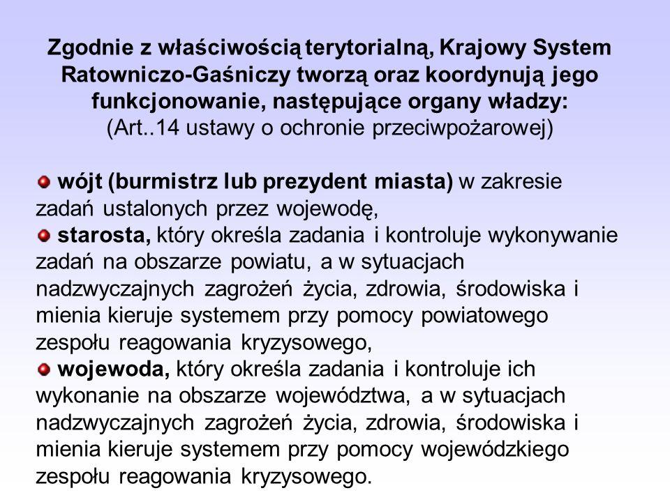 Przypomnijmy: Krajowy system ratowniczo-gaśniczy (KSRG) jest integralną część organizacji bezpieczeństwa wewnętrznego obejmującą w celu ratowania życi