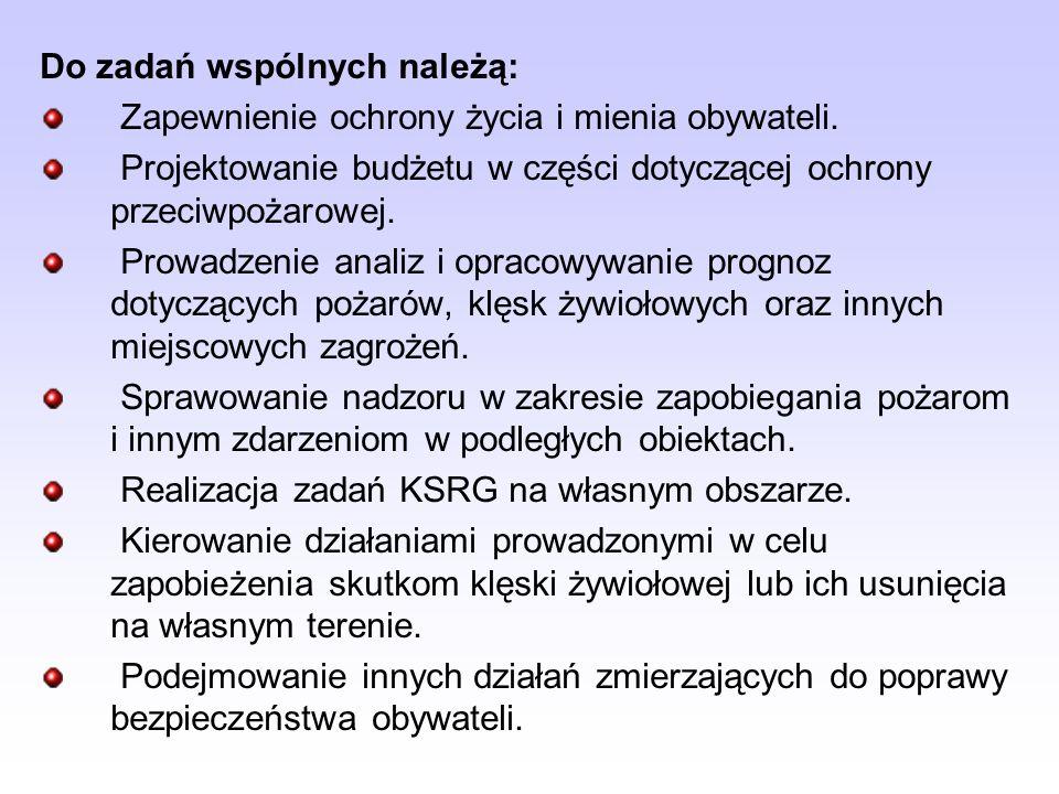 Zadania wspólne gminy i powiatu w zakresie ochrony przeciwpożarowej.