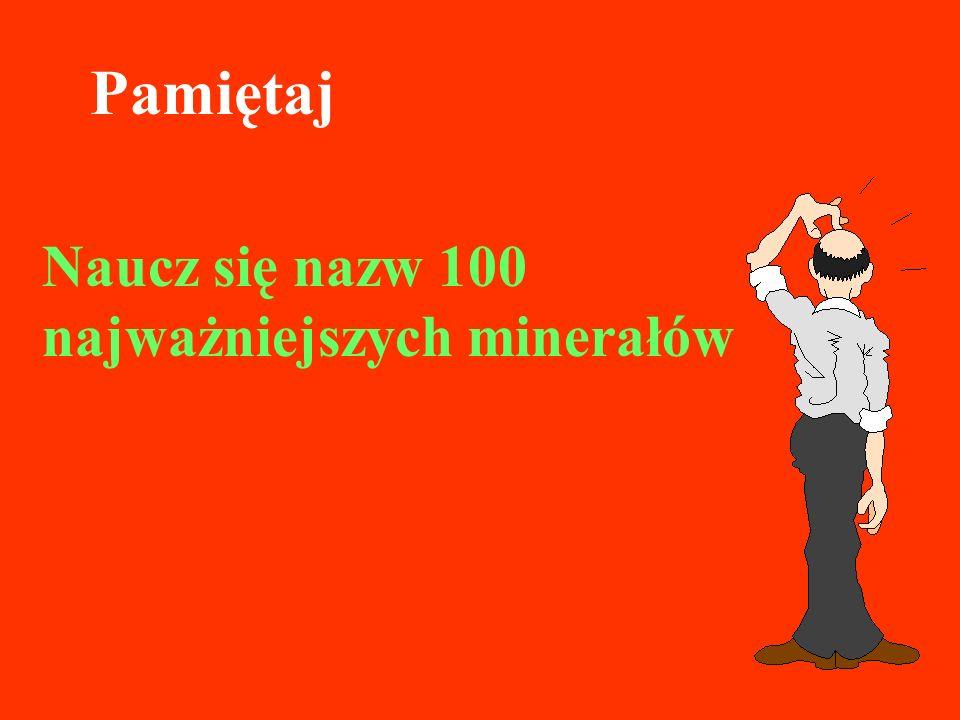 Naucz się nazw 100 najważniejszych minerałów Pamiętaj
