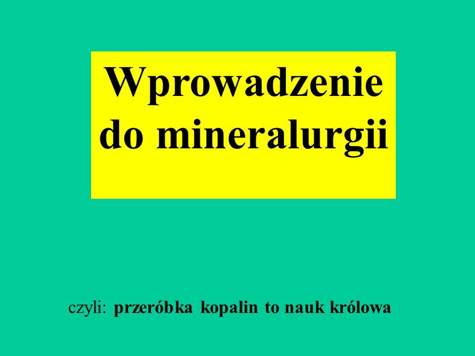 Wprowadzenie do mineralurgii czyli: przeróbka kopalin to nauk królowa