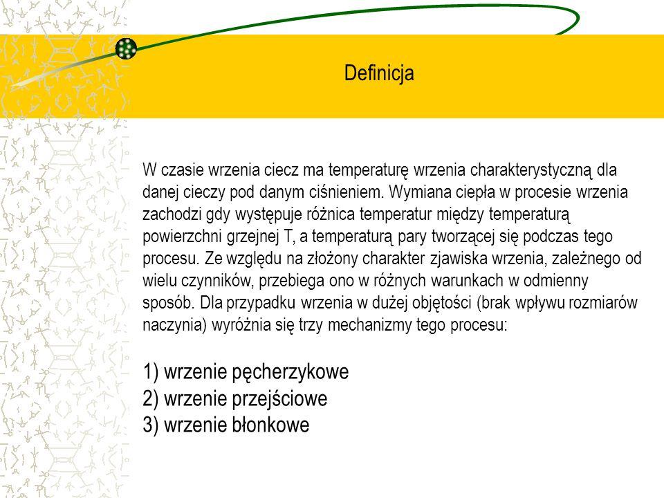 W czasie wrzenia ciecz ma temperaturę wrzenia charakterystyczną dla danej cieczy pod danym ciśnieniem. Wymiana ciepła w procesie wrzenia zachodzi gdy