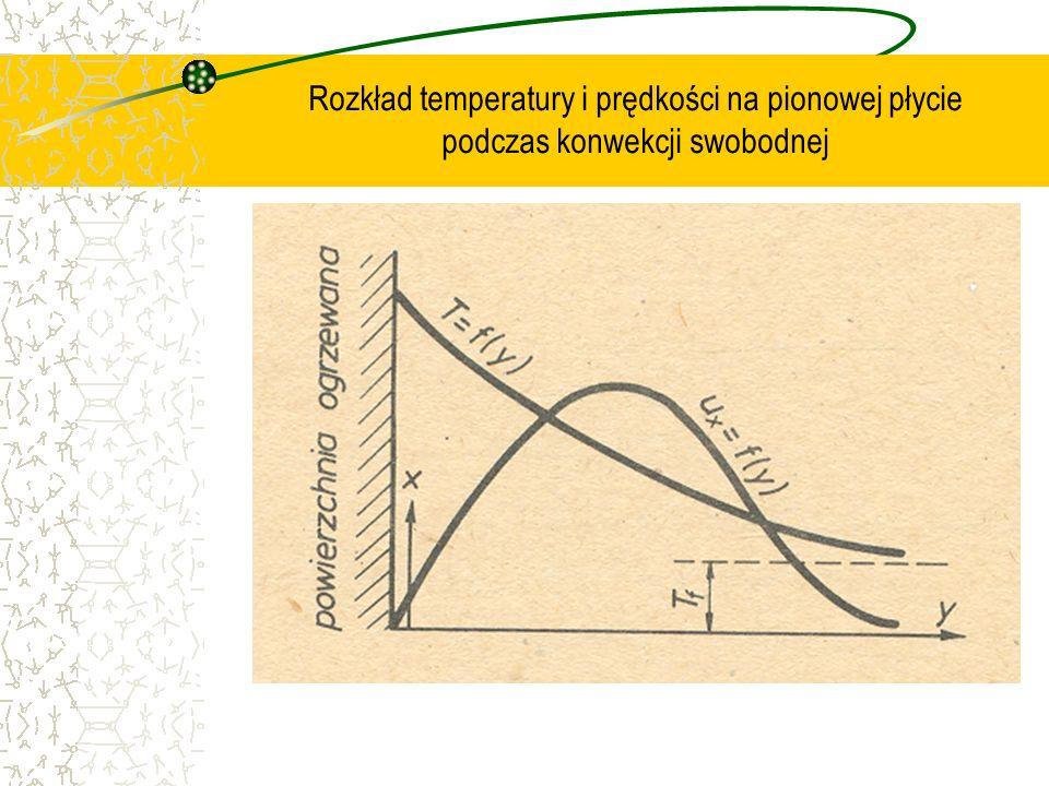 Rozkład temperatury i prędkości na pionowej płycie podczas konwekcji swobodnej