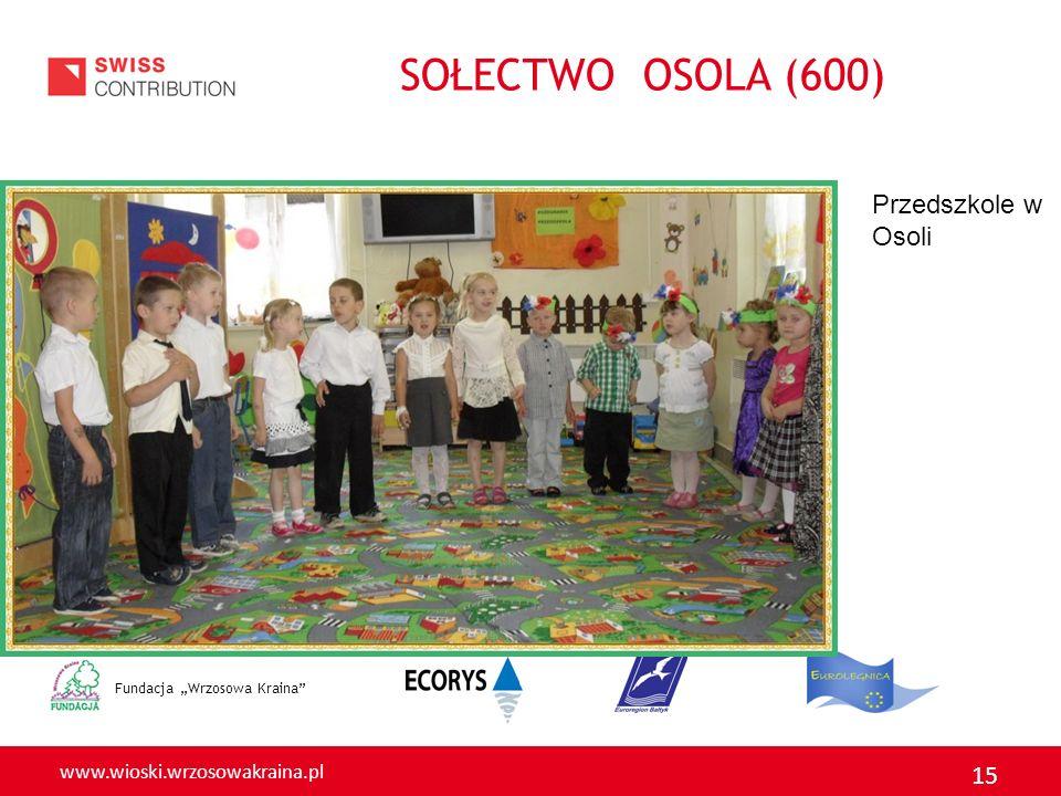 www.wioski.wrzosowakraina.pl 15 Fundacja Wrzosowa Kraina Przedszkole w Osoli SOŁECTWO OSOLA (600)