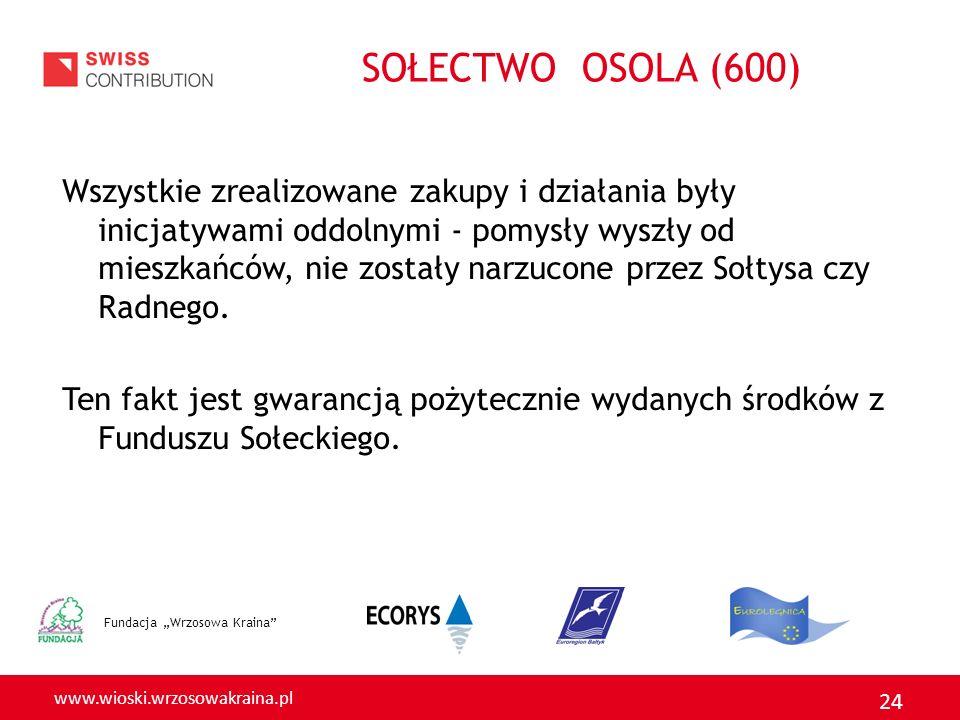 www.wioski.wrzosowakraina.pl 24 Wszystkie zrealizowane zakupy i działania były inicjatywami oddolnymi - pomysły wyszły od mieszkańców, nie zostały nar