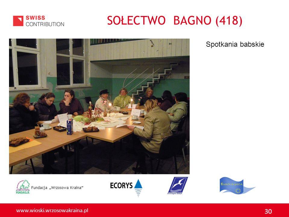 www.wioski.wrzosowakraina.pl 30 Fundacja Wrzosowa Kraina Spotkania babskie SOŁECTWO BAGNO (418)