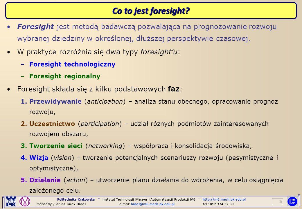 4 Politechnika Krakowska ~ Instytut Technologii Maszyn i Automatyzacji Produkcji M6 ~ http://m6.mech.pk.edu.pl Prowadzący: dr inż.