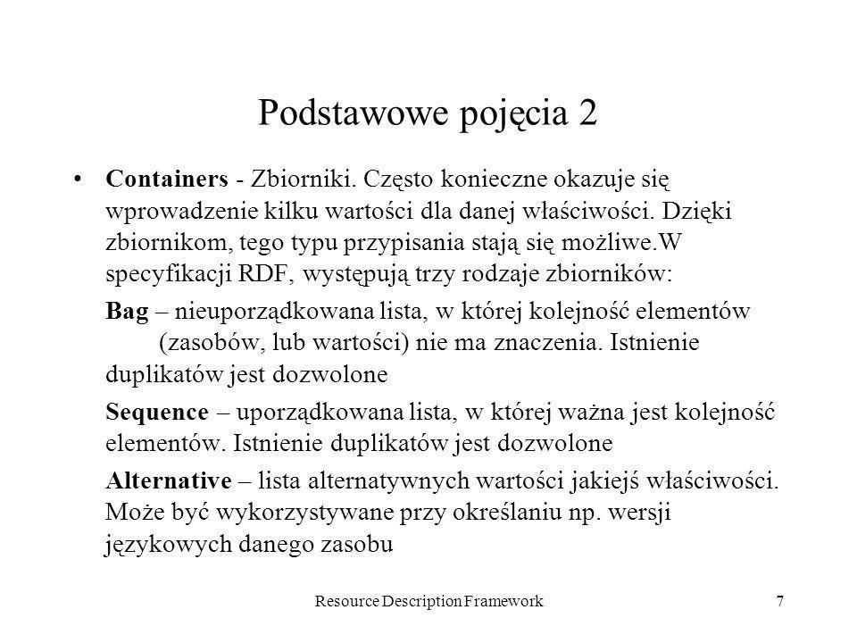 Resource Description Framework18 Składnia RDF/XML.
