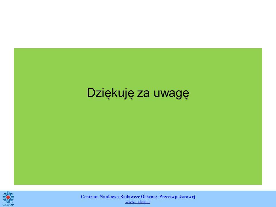 Centrum Naukowo-Badawcze Ochrony Przeciwpożarowej www. cnbop.pl Dziękuję za uwagę