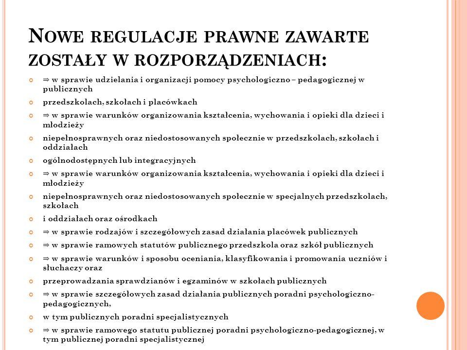 R OZPORZĄDZENIE MEN Z DNIA 17 LISTOPADA 2010 R.
