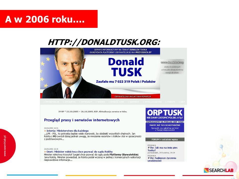 A w 2006 roku.... HTTP://DONALDTUSK.ORG: