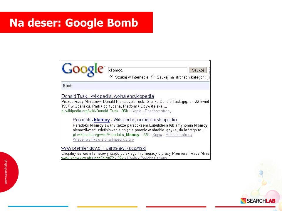Na deser: Google Bomb