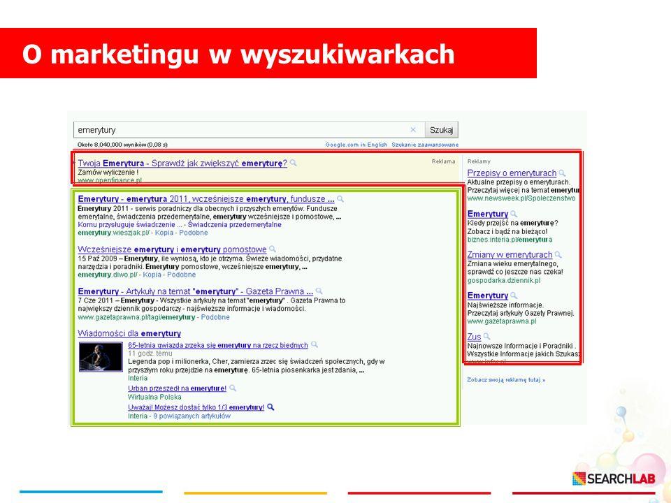O marketingu w wyszukiwarkach