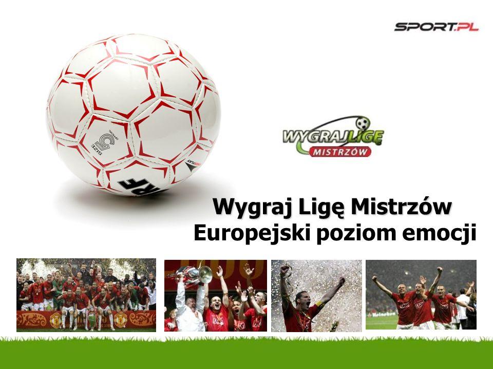 Europejski poziom emocji Wygraj Ligę Mistrzów