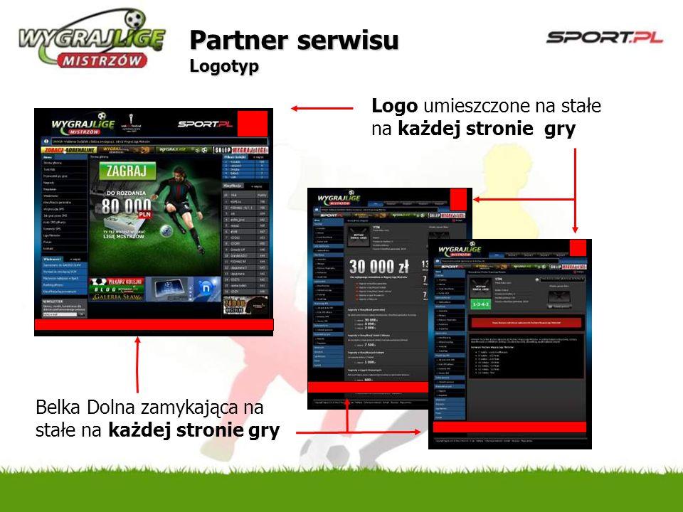 Partner serwisu Logotyp Logo umieszczone na stałe na każdej stronie gry Belka Dolna zamykająca na stałe na każdej stronie gry