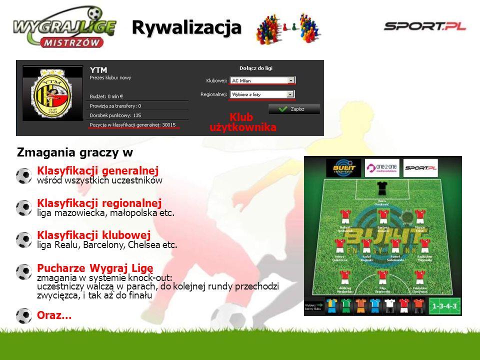 Promocja z logotypem Partnera Mailing Target: mężczyźni 18+, zainteresowani sportem i motoryzacją ok.