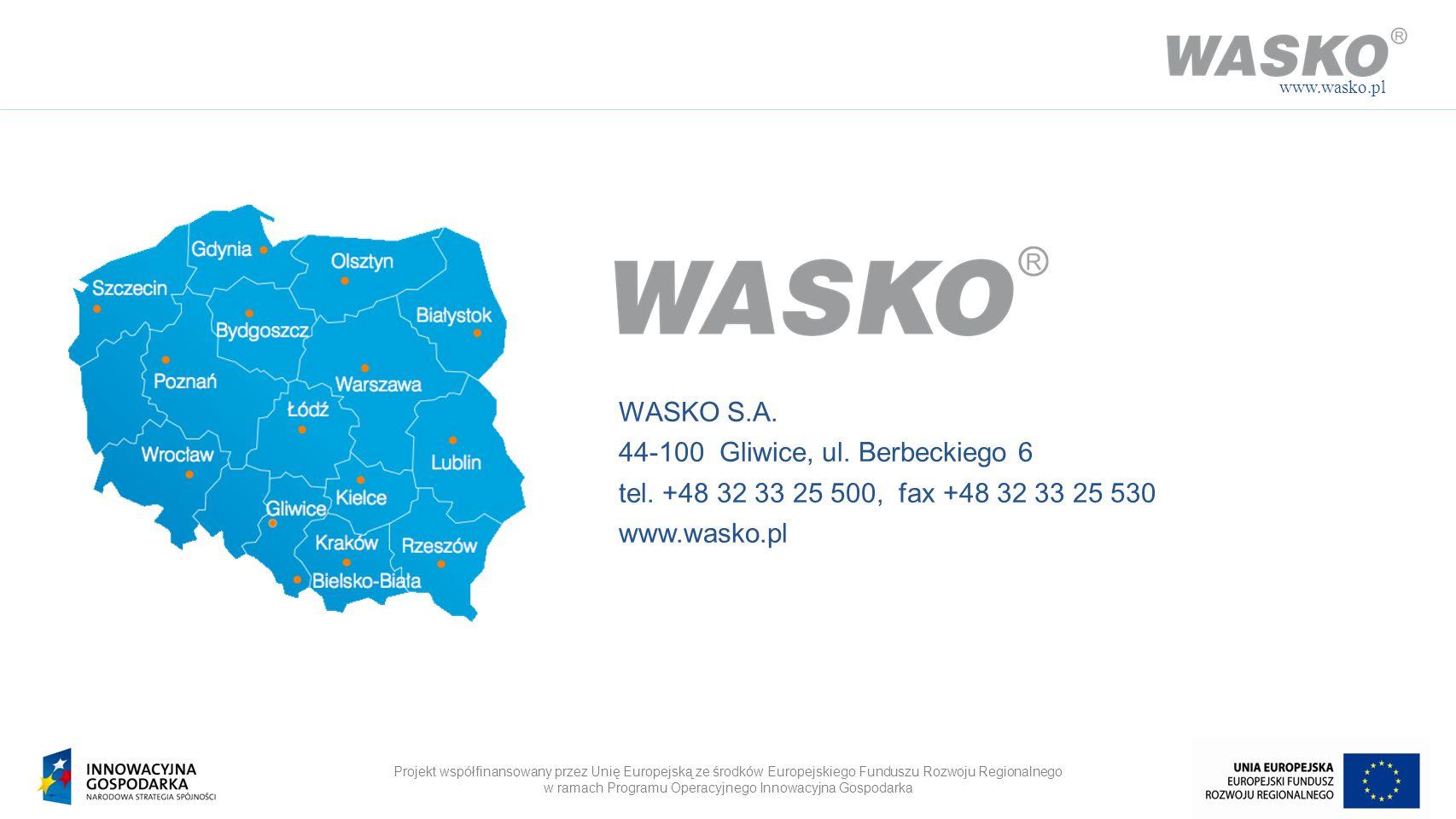Projekt współfinansowany przez Unię Europejską ze środków Europejskiego Funduszu Rozwoju Regionalnego w ramach Programu Operacyjnego Innowacyjna Gospo