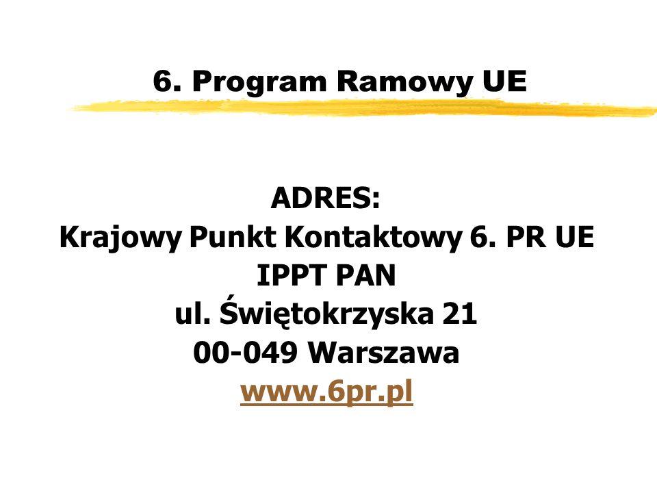 6. Program Ramowy UE ADRES: Krajowy Punkt Kontaktowy 6.