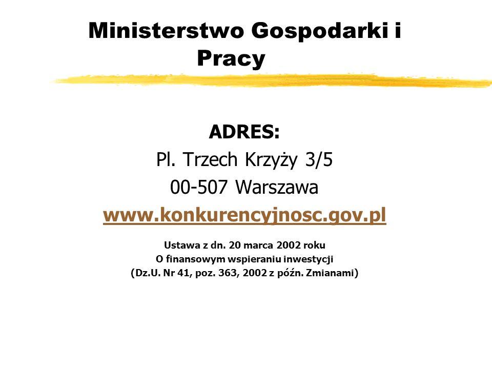 Ministerstwo Gospodarki i Pracy ADRES: Pl.