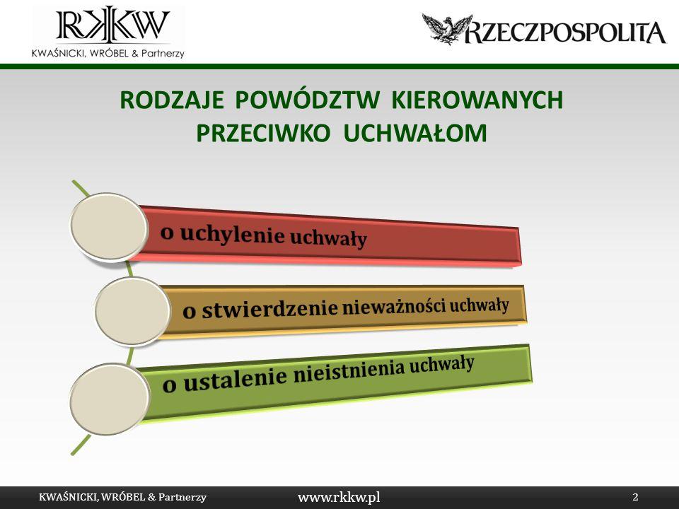 www.rkkw.pl LEGITYMACJA PROCESOWA W S.A. KWAŚNICKI, WRÓBEL & Partnerzy3