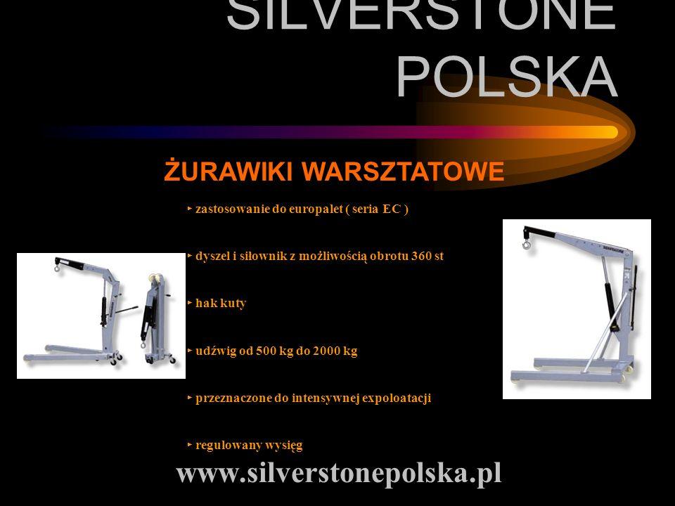 SILVERSTONE POLSKA www.silverstonepolska.pl ŻURAWIKI WARSZTATOWE zastosowanie do europalet ( seria EC ) dyszel i siłownik z możliwością obrotu 360 st