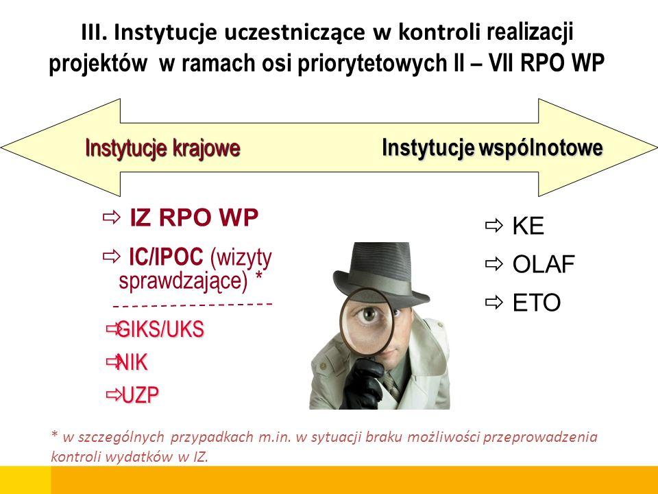 notatka o nieprawidłowości informacja pokontrolna Inne informacje, w tym: od beneficjentów, prasowe lub anonimowe DBF, DRR, DPI, DWP na podstawie działań własnych DPI Instytucje uczestniczące we wdrażaniu funduszy strukturalnych (IK NSRO, IK RPO, IA, IC/IPOC) informacje wymagające potwierdzenia Zespół Kontrolujący Inne organy lub instytucje (np.