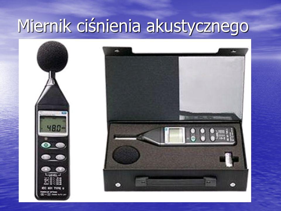 Miernik ciśnienia akustycznego