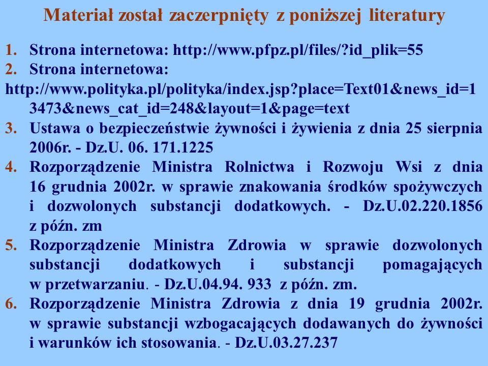 1.Strona internetowa: http://www.pfpz.pl/files/?id_plik=55 2.Strona internetowa: http://www.polityka.pl/polityka/index.jsp?place=Text01&news_id=1 3473
