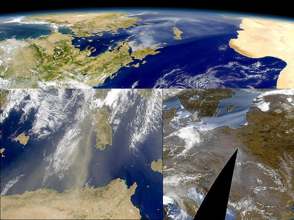 37 Algorytm MODIS nad lądem W tym przypadku wykorzystuje się własność, że większość typów aerozolu ma znikomą grubość optyczną w środkowej podczerwieni (2.13-3.8 m) Dla obszarów, które mają mały współczynnik odbicia od powierzchni jest on mierzony w środkowej podczerwieni a następnie obliczany w obszarze widzialnym.