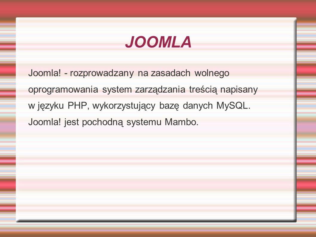 Rozszerzenia joomla Istnieją trzy podstawowe rodzaje rozszerzeń do Joomla są to moduły, komponenty i dodatki (components, modules, plugins).