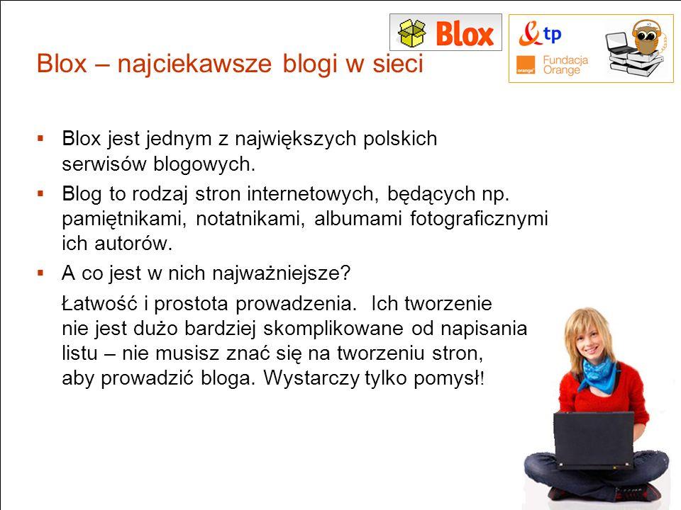 Blox – najciekawsze blogi w sieci Blox jest jednym z największych polskich serwisów blogowych. Blog to rodzaj stron internetowych, będących np. pamięt