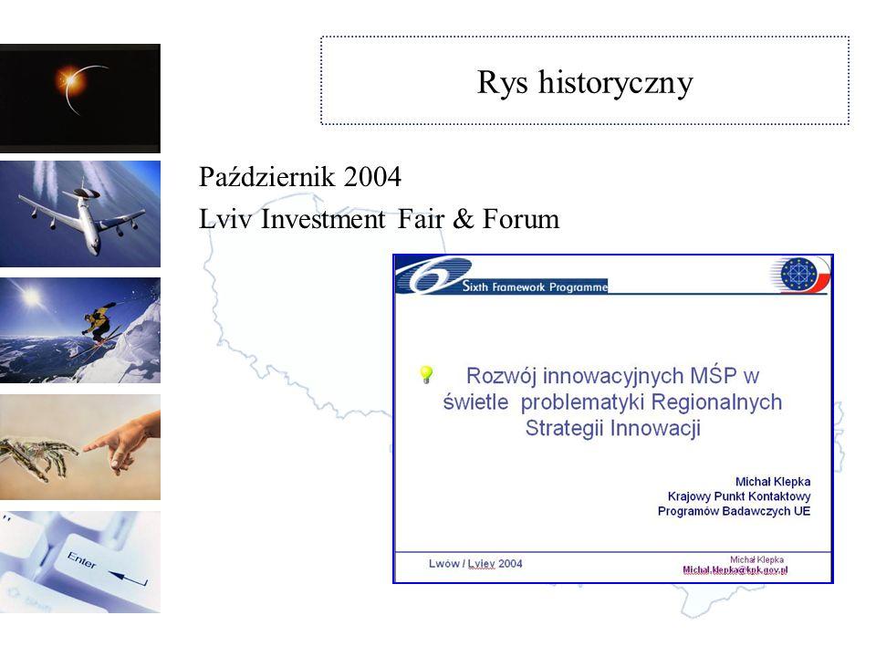 Rys historyczny Listopad 2004 Projekt finansowany przez MSZ Współpraca na rzecz rozwoju ukraińskiej gospodarki poprzez regiony Strona internetowa www.pluaris.org.pl