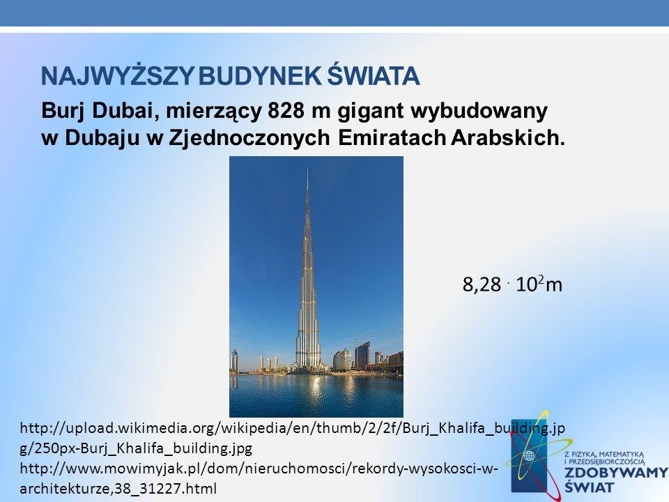 NAJWYŻSZY BUDYNEK ŚWIATA Burj Dubai, mierzący 828 m gigant wybudowany w Dubaju w Zjednoczonych Emiratach Arabskich. http://www.mowimyjak.pl/dom/nieruc