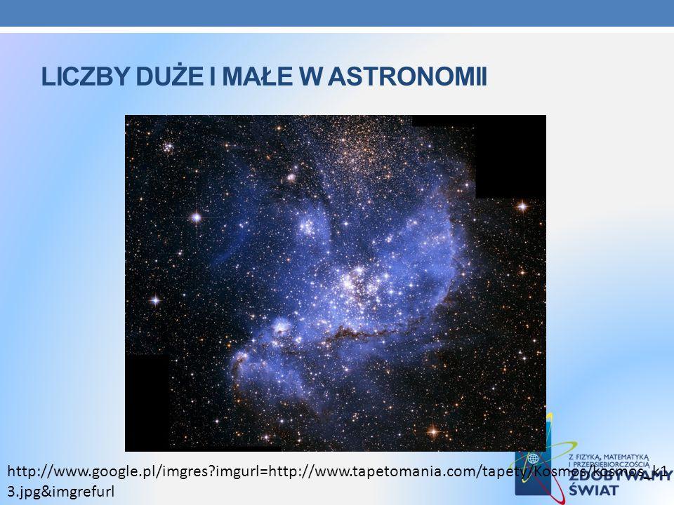LICZBY DUŻE I MAŁE W ASTRONOMII http://www.google.pl/imgres?imgurl=http://www.tapetomania.com/tapety/Kosmos/kosmos_k1 3.jpg&imgrefurl