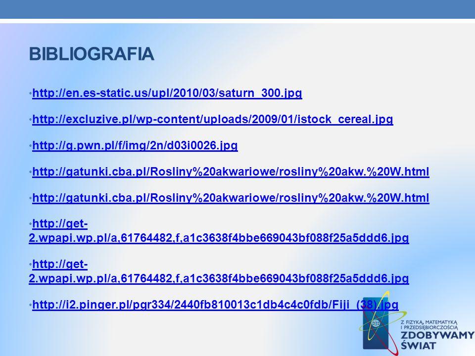 BIBLIOGRAFIA http://en.es-static.us/upl/2010/03/saturn_300.jpg http://excluzive.pl/wp-content/uploads/2009/01/istock_cereal.jpg http://g.pwn.pl/f/img/