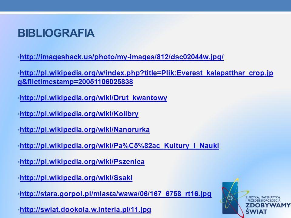 BIBLIOGRAFIA http://imageshack.us/photo/my-images/812/dsc02044w.jpg/ http://pl.wikipedia.org/w/index.php?title=Plik:Everest_kalapatthar_crop.jp g&file