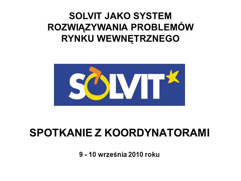 PREZENTACJA Wewnętrzna organizacja Centrum Kryteria spraw SOLVIT Wyłączenia Procedura Terminy Raport Komisji Europejskiej 2009 Centrum SOLVIT PL - 2009 Korzyści i niedoskonałości systemu Zgłaszanie spraw – wytyczne Przykładowe sprawy SOLVIT Promocja 2009 - 2010