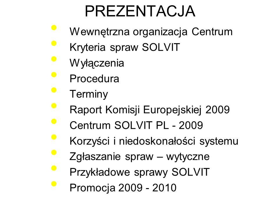 WEWNĘTRZNA ORGANIZACJA CENTRUM SOLVIT POLSKA