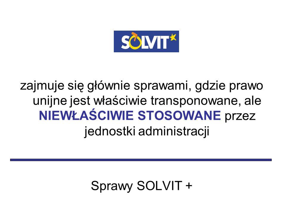 w jak najkrótszym terminie – analiza wniosku przez Centrum SOLVIT i ekspertów krajowych lub 1 tydzień – dla Prowadzącego Centrum na przyjęcie lub odrzucenie sprawy 10 tygodni – dla Prowadzącego Centrum i ekspertów krajowych na rozwiązanie sprawy + 4 tygodnie – w wyjątkowych przypadkach