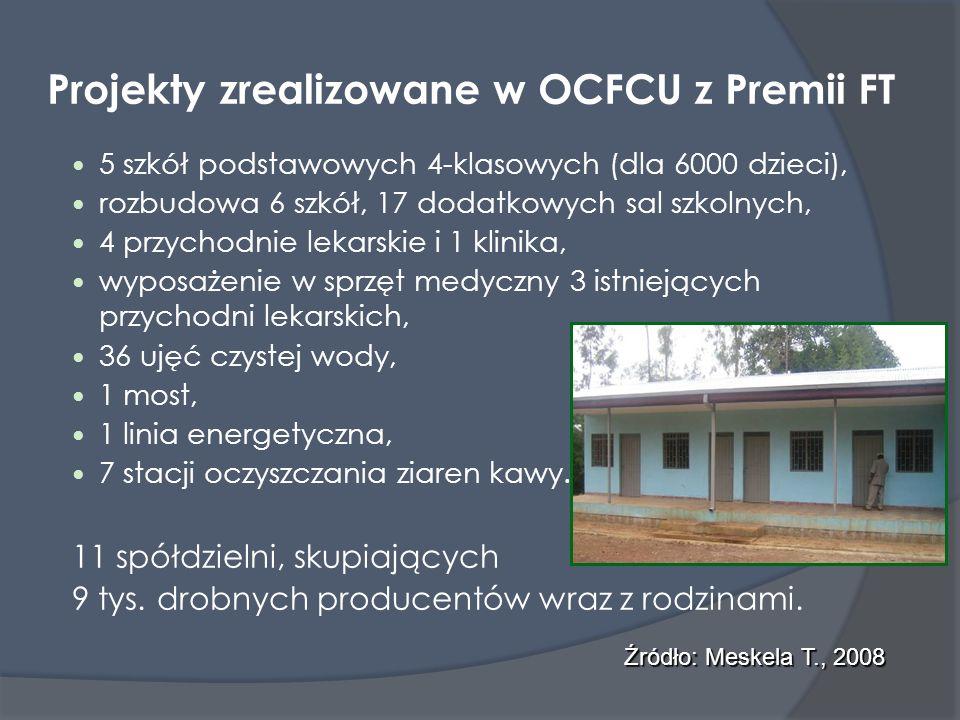 Projekty zrealizowane w OCFCU z Premii FT 5 szkół podstawowych 4-klasowych (dla 6000 dzieci), rozbudowa 6 szkół, 17 dodatkowych sal szkolnych, 4 przyc