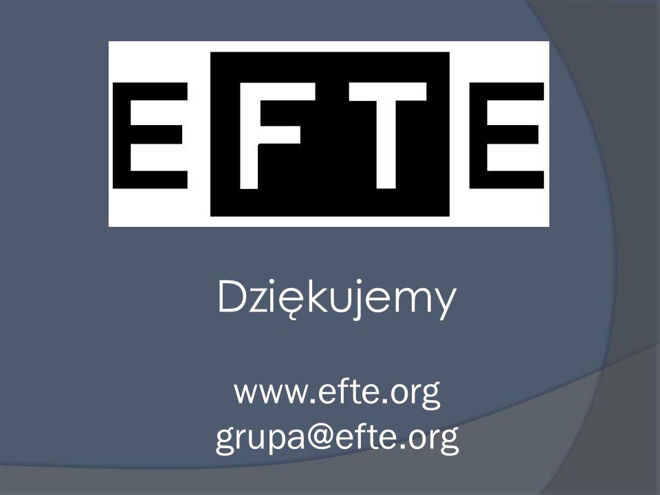 Dziękujemy www.efte.org grupa@efte.org
