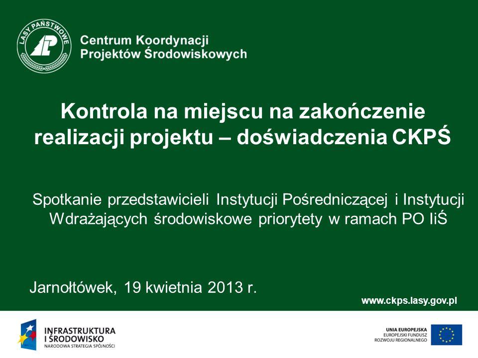 www.ckps.lasy.gov.pl Archiwizacja dokumentacji projektowej Brak procedur gwarantujących właściwy okres archiwizacji dokumentacji projektowej Przykład: Beneficjent nie posiada żadnych procedur dot.