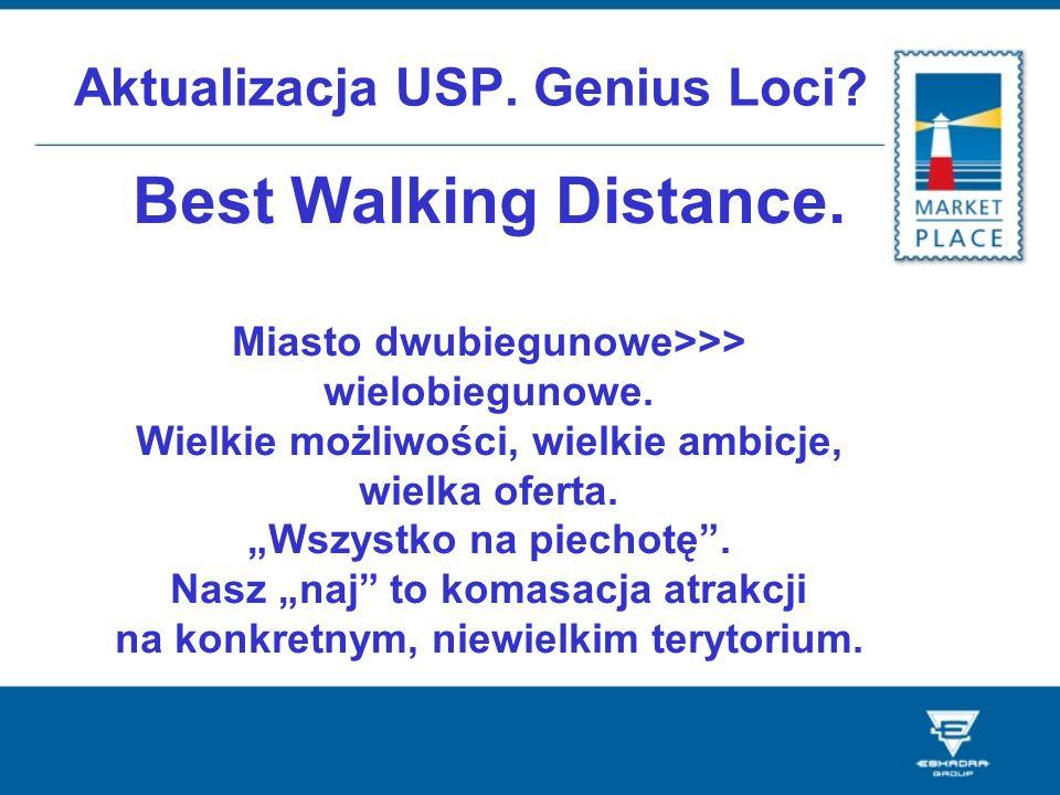 Aktualizacja USP. Genius Loci? Best Walking Distance. Miasto dwubiegunowe>>> wielobiegunowe. Wielkie możliwości, wielkie ambicje, wielka oferta. Wszys