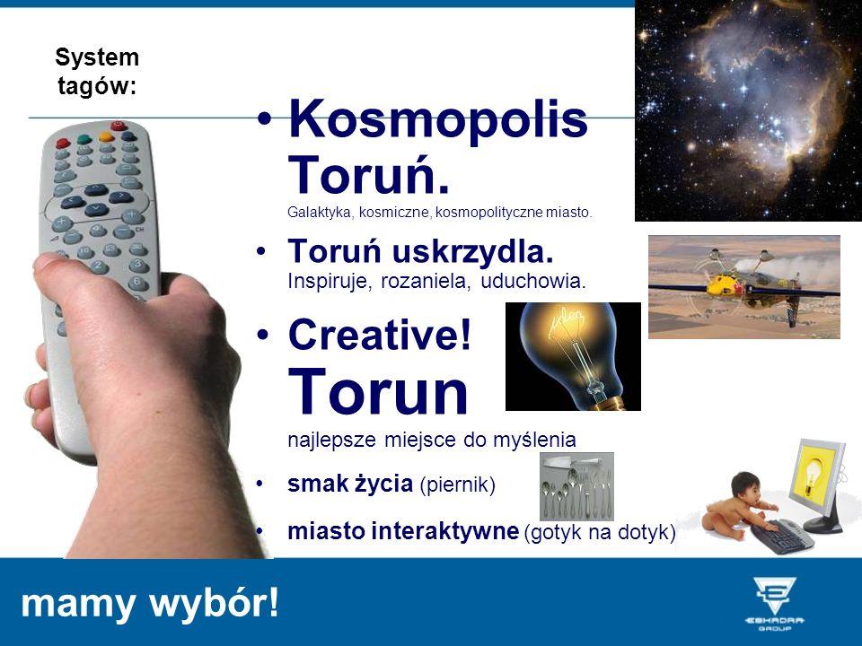 mamy wybór! Kosmopolis Toruń. Galaktyka, kosmiczne, kosmopolityczne miasto. Toruń uskrzydla. Inspiruje, rozaniela, uduchowia. Creative! Torun najlepsz